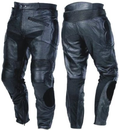 Mens CE Armoured Leather Motorcycle Jeans With Sliders Waist 38