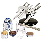 X-Wing Knife Block And R2d2 Measuring Cup - Star Wars Kitchen Ware Dinner Gift Set