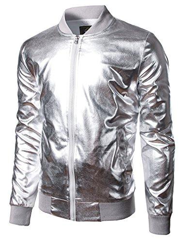 jogal-mens-metallic-nightclub-styles-zip-up-varsity-baseball-bomber-jacket-x-large-silver