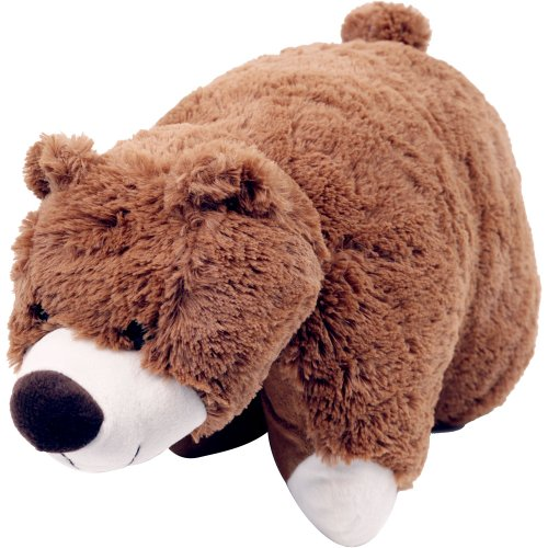 Cuddle Pet Pillow Brown Bear 18""