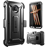 Moto Z Case, Supcase Full-body Rugged Holster Case with Built-in Screen Protector for Motorola Moto Z Droid (2016 Release), Unicorn Beetle PRO Series (Black/Black)