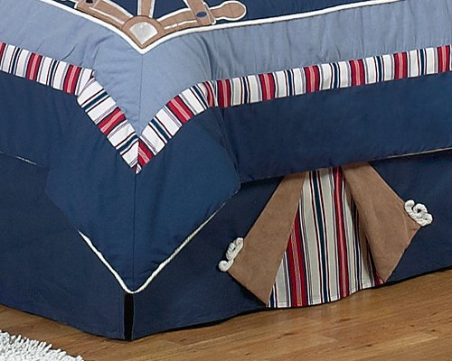 Nautical Nights Sailboat Queen Bed Skirt by JoJo Designs