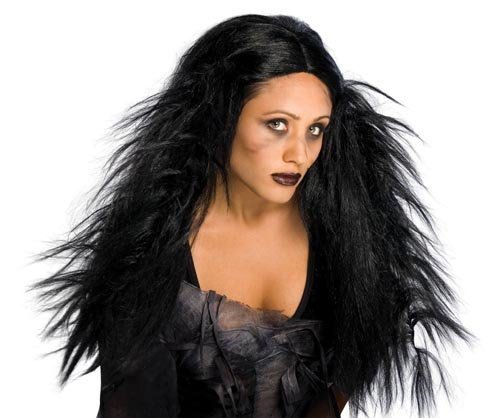 Rubie's Costume Dark Ages Wig, Black, One Size - 1