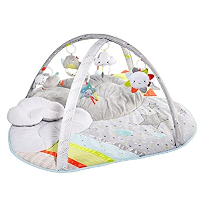Skip Hop Baby & Toddler Silver Lining Cloud Activity Gym and Playmat, White, Silver Lining Cloud