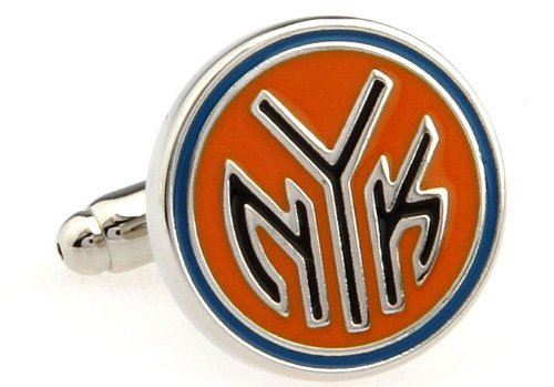 New York Knicks Cufflinks - Logo Cuff Links by Mens Bodega at Amazon.com