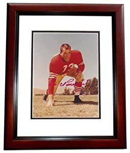Leo Nomellini Autographed Hand Signed San Francisco 49ers 8x10 Photo MAHOGANY CUSTOM... by Real Deal Memorabilia