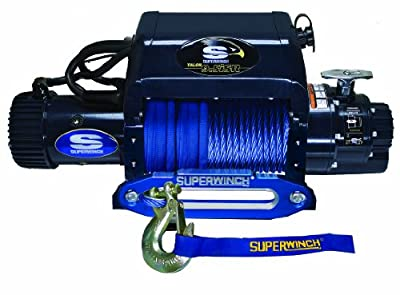 Superwinch 1695211 Talon 9.5iSR, 12 VDC winch, 9,500 lb/4,309 kg capacity with hawse fairlead & synthetic rope