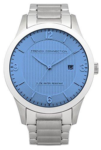 French connection hombre-reloj analógico de cuarzo de acero inoxidable FC1210SM