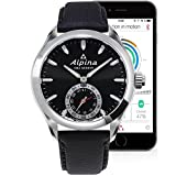 Alpina Men's AL-285BS5AQ6 Horological Smart Analog Display Swiss Quartz Black Watch