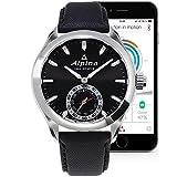Alpina Men's AL-285BS5AQ6 Horological Smart Analog Display Swiss Quartz Black Watch