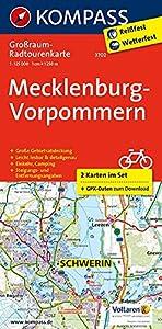 Mecklenburg-Vorpommern: Großraum-Radtourenkarte 1:125000 (KOMPASS-Großraum-Radtourenkarte, Band 3702)