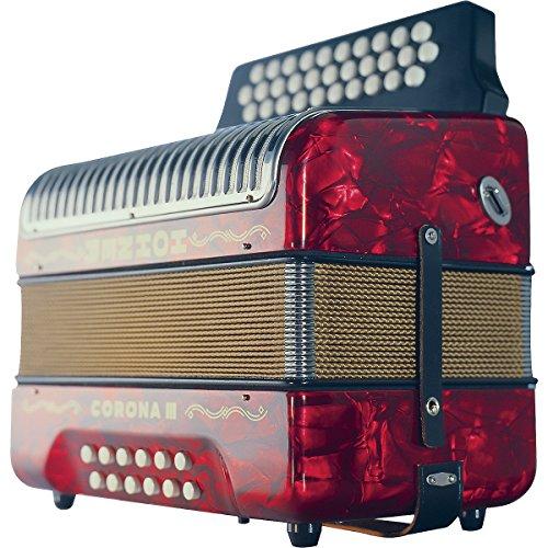 Hohner-Corona-III-FBbEb-Accordion-Pearl-Red