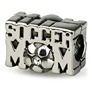 Ohm Sterling Silver Crystal Soccer Mom Bead Charm