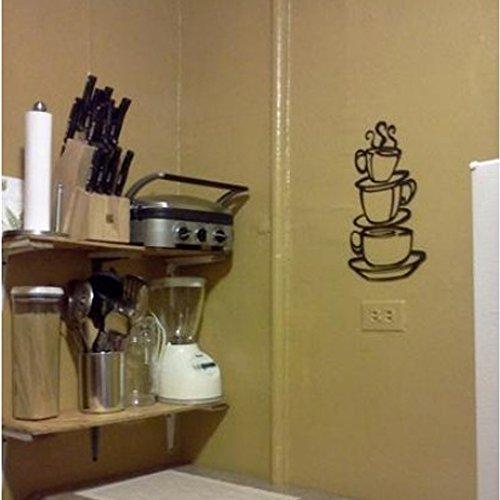 Coffee Cup Mug Design DIY Cafe Coffee Wall Decal Stickers
