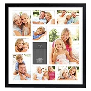 Prinz 10-Opening Gallery Expressions Collage Frame, Black Finish