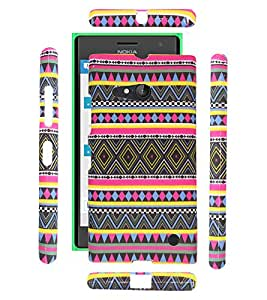FUSON PREMIUM TRIBAL AZITEC JAIPUR DESIGNER SOFT SILICON BACK CASE COVER FOR NOKIA LUMIA 730 / DUAL - D20