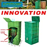 World first SUPERCOMP - Composter - Garden Compost Bin - No turning of the pile anymore - with bottom board