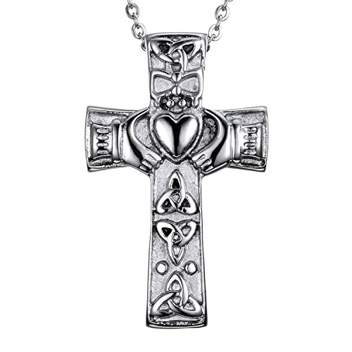 AMIST Irish Cross Claddagh Cremation Jewelry