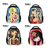 High Quality Kindergarten Mini Baby Bags Vintage Painting Girls Doll School Bags