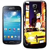 Yellow Taxi Cab in New York Times Square USA Hard Case Clip On Back Cover For Samsung Galaxy S4 Mini i9190