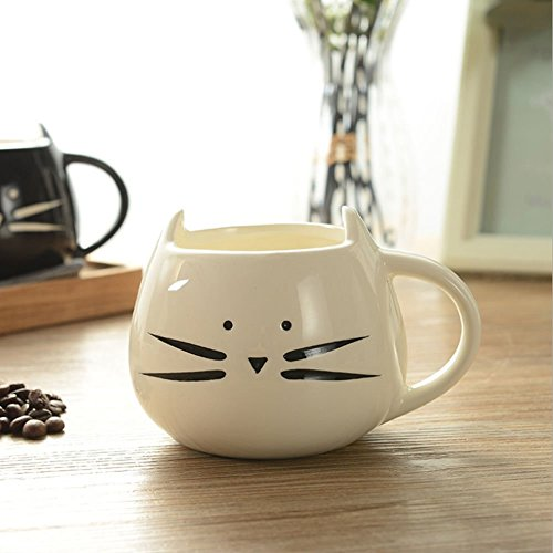 Cute Cat Coffee Milk Tea Drink Ceramic Mug Cup White Lover Kid Gift (Snow Peak Travel Mug compare prices)