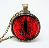 New 2015 Dragon Red Eye Necklace Pendent with Bronz Chain