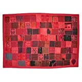 Lalhaveli Indian Traditionally Designed Khambadia Patchwork Cotton Wall Hanging Tapestry