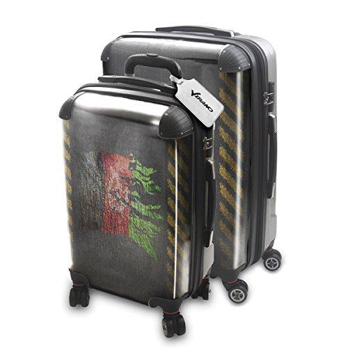 Drapeau Déchiré Afganistan, 2 pièce Set Luggage Bagage Trolley de Voyage Rigide 360 degree 4 Roues Valise avec Echangeable Design Coloré. Grandeur: Adapté à la Cabine S, L