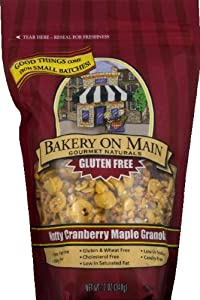 Bakery On Main Gluten Free Granola, Nutty Cranberry Maple 12-Ounce (PACK OF 30)