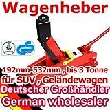 [TT630A] Wagenheber für Geländewagen, SUV, 192-532mm, 3000kg, mit TÜV GS