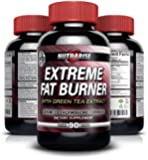 Extreme Thermogenic Fat Burner Weight Loss Pills For Men and Women - With Green Tea Extract, Raspberry Ketones, Yohimbe, L-Tyrosine - Lose Weight Fast, Lose Belly Fat, Appetite Suppressant, Boosts Metabolism, Increases Energy - Fast-acting - 90 Capsules
