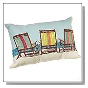Beach Theme Tapestry Beach Chairs Pillow