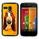 Smartphone Protective Case Hard Shell Cover for Cellphone Motorola Moto G 1 1ST Gen I X1032 CECELL Phone case Basset Hound  Pendant Ear Dog