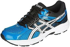 ASICS Gel Contend 3 GS Running Shoe (Little Kid/Big Kid), Electric Blue/White/Black, 4 M US Big Kid