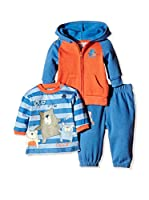 Pitter Patter Baby Gifts Conjunto (Azul Marino / Naranja)