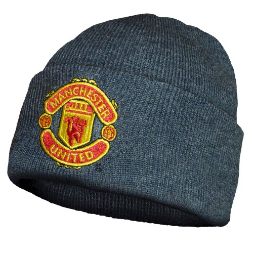 Manchester United Football Club Official Soccer Gift Knit Bronx Beanie Hat Grey (Manchester United Hats And Caps compare prices)