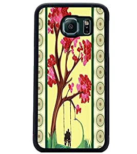 PrintDhaba Flowers D-3816 Back Case Cover for SAMSUNG GALAXY S6 (Multi-Coloured)