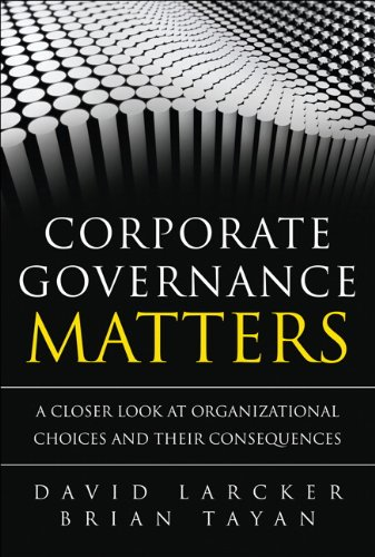 Corporate governance matters a closer look at organizational choices