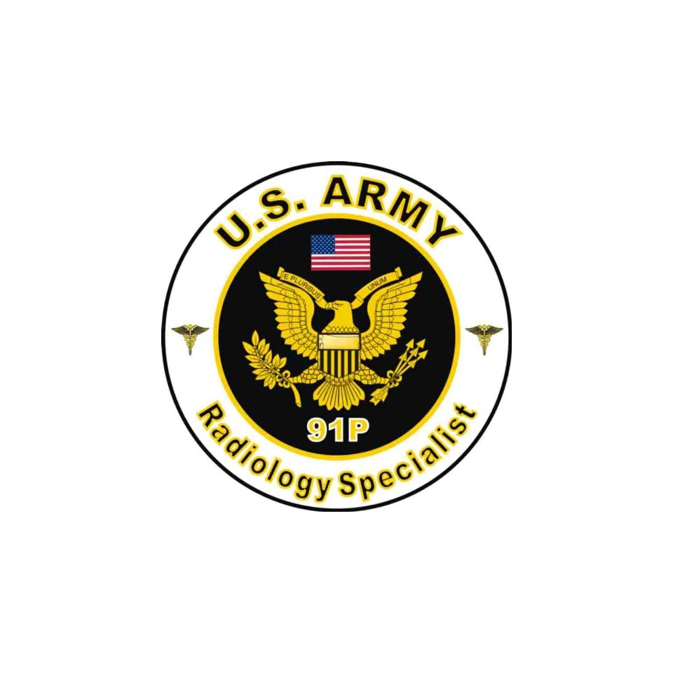 United States Army MOS 91P Radiology Specialist Decal Sticker 38