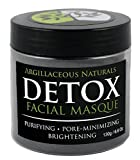 Detox Face Mask (Contains 15 Applications) Pore Cleansing, Reduces Appearance of Acne (pimples) and Acne Scars by Exfoliating skin. Bentonite Clay Stimulates Skin. Aztec Facial Masque on Steroids - 100% Money Back Guarantee!