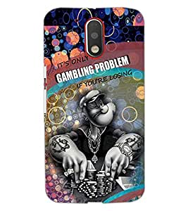 PrintDhaba GAMBLING D-6999 Back Case Cover for MOTOROLA MOTO G4 PLUS (Multi-Coloured)