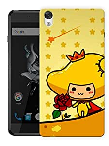 """Humor Gang Cartoon Girl With Rose Printed Designer Mobile Back Cover For """"OnePlus X"""" (3D, Matte, Premium Quality Snap On Case)"""