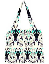 Snoogg Diamond Abstract Pattern Womens Jhola Shape Tote Bag