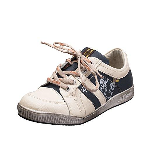 TMA EYES 4119 Herrenschuh Schnürer Gr.41-46 mit bequemen perforiertem Fußbett , Leder super leichter Schuh der neuen Saison. ATMUNGSAKTIV in Weiss Blau