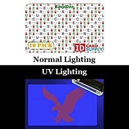 10 x Adhesive Holographic Overlay for Standard Size ID Cards | Secure Lock and Key Design with UV Eagle