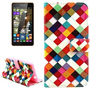 Color Weave Pattern Flip Leather Case with Card Slots & Wallet & Holder for Microsoft Lumia 535