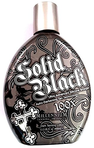 Solid Black 100X Bronzer Indoor & Outdoor Dark Tanning Bed L