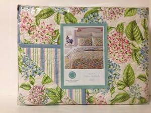Fabulous Martha Stewart Hydrangea Blossom FullQueen Quilt Quilt Sets