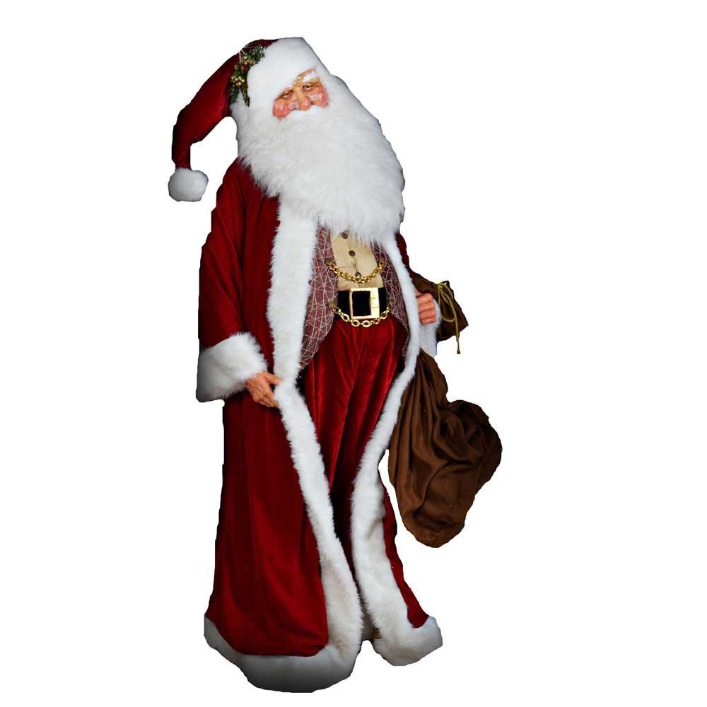 Kurt Adler Jacqueline Kent Elegant Santa, 80-Inch