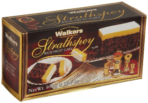 Walkers Shortbread, Strathspey Rich Fruit Cake, 17.6-Ounce Box